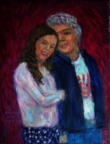 """Ann and Paul"" Portrait oil painting and prints by Pointillistic/Impressionist painter Paul Berenson"