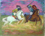 """Giaour and the Pasha"" (After Delacroix)"