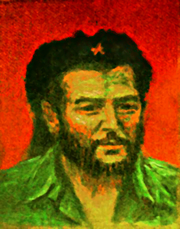 """Ché Guevara"" Ché Portrait oil painting and prints by Pointillistic/Impressionist painter Paul Berenson"