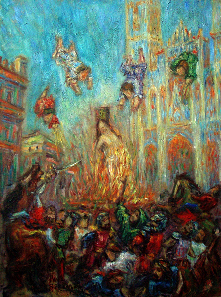 """Joan of Arc"" Classical Opera oil painting and prints by Pointillistic/Impressionist painter Paul Berenson"