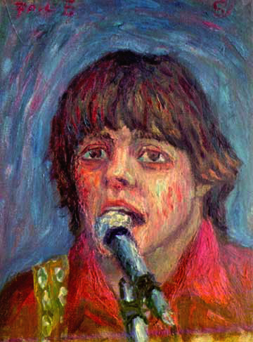 """Paul McCartney"" Beatles oil painting and prints by Pointillistic/Impressionist painter Paul Berenson"
