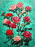 """Roses on a Green Background"""