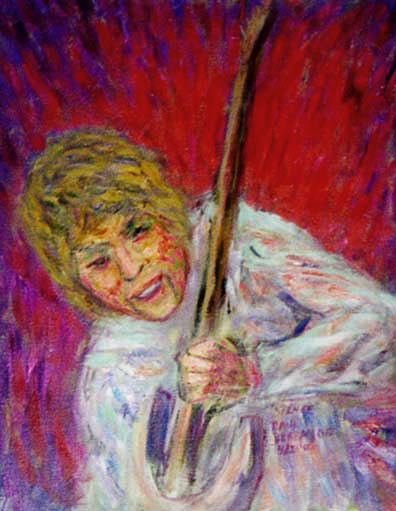 """Skip Spence, Moby Grape"" Skip Spence oil painting and prints by Pointillistic/Impressionist painter Paul Berenson"
