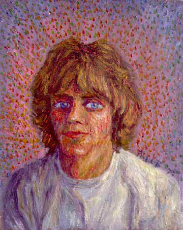 """Skip Spence"" Skip Spence oil painting and prints by Pointillistic/Impressionist painter Paul Berenson"