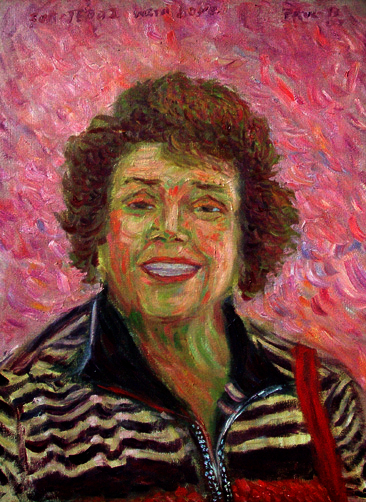 """Popolu Valley"" Portrait oil painting and prints by Pointillistic/Impressionist painter Paul Berenson"