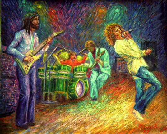 """The Who"" Who oil painting and prints by Pointillistic/Impressionist painter Paul Berenson"